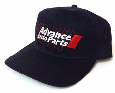 vtg ADVANCE AUTO PARTS SNAPBACK HAT Black&white/red 90s-look Car/Truck Men/Women #AdvanceAutoParts #BaseballCap