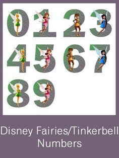 Disney Fairies/Tinkerbell Numbers - FREE PDF Download