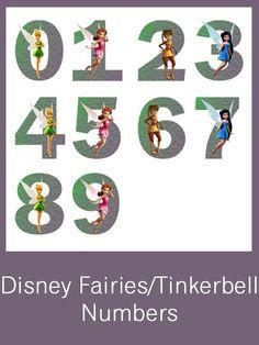 Disney Fairies/Tinkerbell Numbers - FREE PDF Download