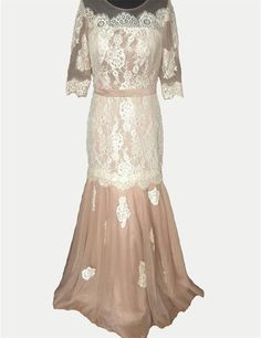 >> Click to Buy << 2017 Champagne Lace Applique Tulle Mother of the Bride Dress Boat Neck Half Sleeves vestidos de madre de la novia Wedding Guest #Affiliate