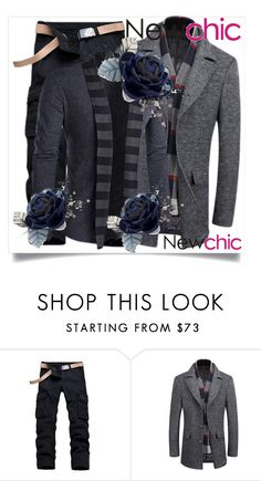 """Newchic 12."" by maya-devojka ❤ liked on Polyvore featuring men's fashion and menswear"