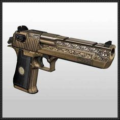 IMI Desert Eagle Pistol Ver.5 Free Paper Model Download - http://www.papercraftsquare.com/imi-desert-eagle-pistol-ver-5-free-paper-model-download.html