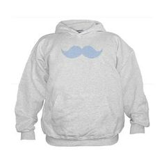Mustache Lt Blue 5k Hoodie