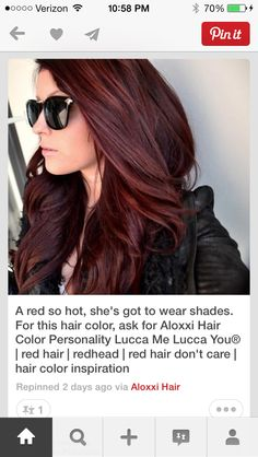 Beautiful hair color!