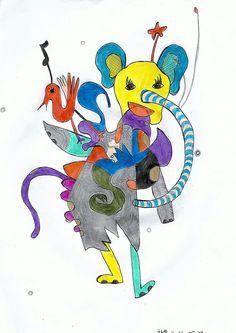 코끼리와 새 / elephant and the bird