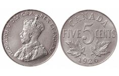 Top 10 rare Canadian nickels include the 1926 far 1947 dot, 1951 high relief, 1953 Shoulder Fold (SF) Far Maple Leaf, the 1925 and 1965 large beads. Rare Coins Worth Money, Valuable Coins, Canadian Coins, Canadian History, Canadian Bacon, Maple Leaf Images, Thousand Dollar Bill, Foreign Coins, Coin Worth