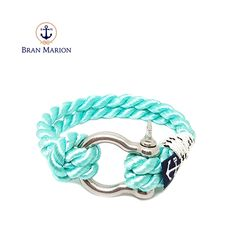 Glencar Nautical Bracelet by Bran Marion Nautical Bracelet, Nautical Jewelry, Turquoise Bracelet, Marine Rope, Everyday Look, Handmade Bracelets, Jewelry Collection, Sailors, Blue And White