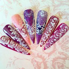 awesome nail art lace dentelles en gel nail art...