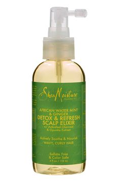 Shea Moisture After Water Mint   Ginger Detox   Scalp Elixir   - How to Spoil Your Hair In Between Braided Styles