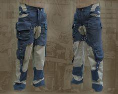 Rebel Pants ~ apocalyptic steampunk burning man pants - Plus Size - multi cargo pocket pants - Tactical Pants, Tactical Clothing, Burning Man, Fashion Night, Winter Fashion, Fashion Ideas, Steampunk Pants, Pantalon Cargo, Hiking Pants
