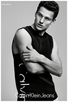 Simon Nessman + Kendall Jenner for Calvin Klein Jeans Campaign