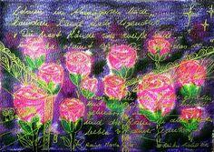 Illustrationen - Lehnen im Abendgarten ... Rilke- KIRSTEN KOHRT ART - ein Designerstück von KIRSTEN-KOHRT-ART bei DaWanda