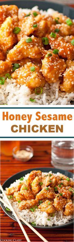 Honey Sesame Chicken - this chicken is AMAZING!! Love the honey sesame combo!