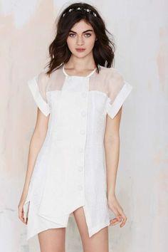 Elliatt Card Game Asymmetric Dress - Day | Going Out | Shift | LWD