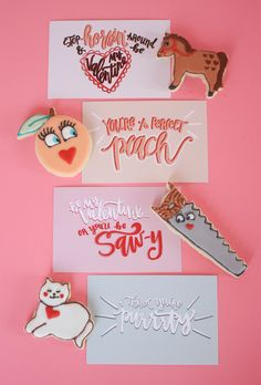 FREE Printable Punny Valentine's Hand lettered by Hello Tosha