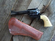 Ruger Blackhawk Flattop .44 Special with Basket Weave Holster