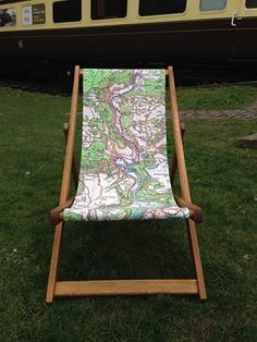 We love this #map deckchair created by our Licensed Partner Weekend 365