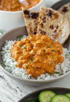 Enjoy authentic Indian flavors in this Healthy Chickpea Tikka Masala. Simple and… Enjoy authentic Indian flavors in this Healthy Chickpea Tikka Masala. Simple and easy vegetarian tikka masala recipe for a weeknight meal or to serve in a party. Tasty Vegetarian Recipes, Healthy Recipes, Vegetable Recipes, Healthy Vegetarian Recipes, Veggie Food, Healthy Meals, Healthy Food, Plats Healthy, Comida India