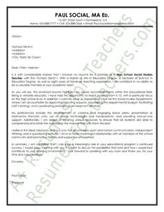 social studies teacher cover letter sample - Vice Principal Cover Letter