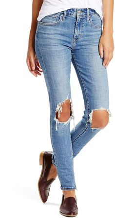 5c05368fb8f levi's 721 Ripped High Waist Skinny Jeans Levis Skinny Jeans, Blue Ripped  Jeans, Ripped