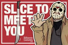 Jason Voorhees - Halloween-themed greeting cards to print and dish out