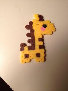 Giraffa a in pyssla super cute