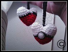 Pokemon Crochet Heart
