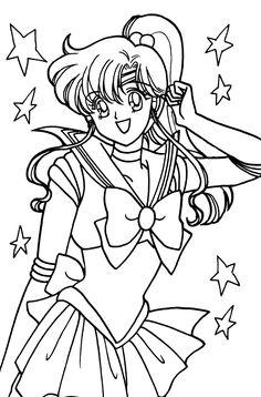 Chibi Coloring Pages, Sailor Moon Coloring Pages, Cool Coloring Pages, Coloring Books, Sailor Jupiter, Sailor Scouts, Sailor Moon Crafts, Moon Drawing, Sailor Moon Wallpaper