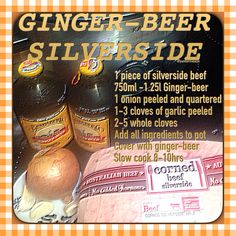 Silverside corned beef slow cooker cooking easy kitchen hint and tips recipe gingerbeer ginger beer simple impress guests dinner time yum slowcooker crockpot life hack simple How To Cook Silverside, Corned Beef Silverside, Slow Cooker Corned Beef, Corned Beef Recipes, Beer Recipes, Slow Cooker Recipes, Sunday Recipes, Savoury Recipes