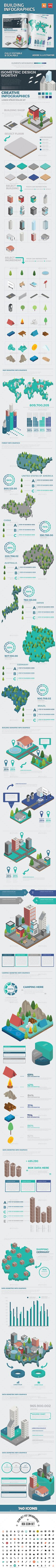 Building Infographic Design — EPS Template #office #build • Download ➝ https://graphicriver.net/item/building-infographic-design/18521997?ref=pxcr
