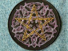 Celtic Pentacle Iron-on Patch