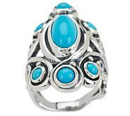 J271042 - Carolyn Pollack Sleeping Beauty Turquoise Sterling Ring