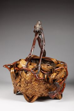 Bamboo flower basket by Kato Toshosai, active in Mie circa late 19th – early 20th century, Japan