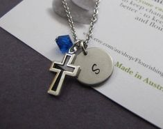 Godson Gift-Boys Cross Necklace-Baptism Gift For Boys-Boy Confirmation Gift-