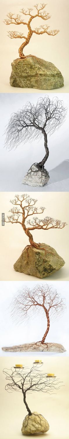 Wicked cool wire trees
