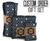 Custom Kitchen Gift Set | Ecofriendly Kitchen Gift | Reusable Paper Towels | Unpaper Towels | Unsponge | Reusable Cloth Napkins | Cleaning