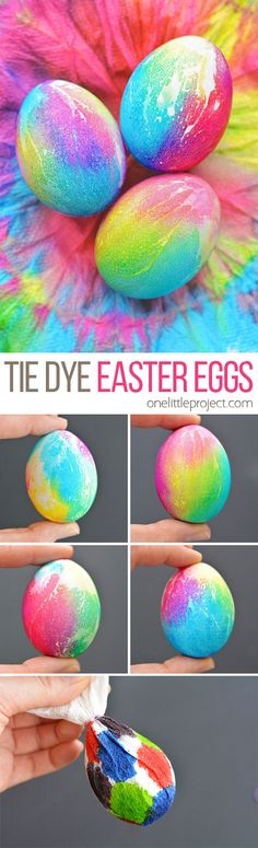 These tie dye Easter eggs are such a FUN way to decorate eggs and they're really easy to make! The colours are bold and bright and the eggs are completely safe to eat!...