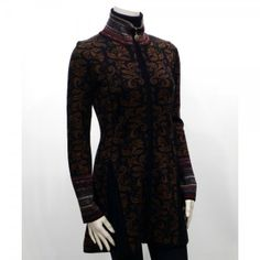 Icelandic Design 2657 Menna Full Zip Long Swing Cardigan