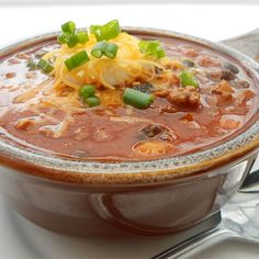 "It's Chili by George!! | ""Can be made on the stove or in the slow cooker. It's quick, easy and so good."""