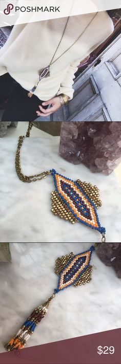 """FREE PEOPLE/ beaded necklace ⱝ amazing tribal/boho vibes ⱝ tiny, intricate beading ⱝ adjustable - 3"""" extender ⱝ 23"""" long ⱝ never worn ⱝ perfect condition   » MAKE OFFERS! IT'S THE ONLY WAY TO GET A DEAL - I ALMOST NEVER LOWER MY PRICES.  » BUNDLE DISCOUNTS ARE ALMOST ALWAYS BETTER THEN 5% - JUST ASK.  » UNLESS IT IS FOR A BUNDLE, I WILL NOT RESPOND TO OFFERS IN COMMENTS Free People Jewelry Necklaces"""