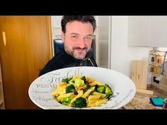Pasta e Broccoli Chef Stefano Barbato Video Recipes Pasta E Broccoli, Paella, Food Videos, Pesto, Diet Recipes, Meals, Make It Yourself, Vegetables, Youtube