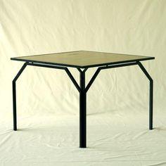 Shiro Kuramata-no name Frame: Wood ' LacqueredMetal Dimentions: W100 x H72.5 x D100 Design: Shiro Kuramata Manufacturer: Ishimaru
