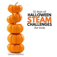 Halloween STEAM Challenge Cards
