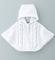 """tutoriel de tricot """"poncho bébé"""" vintage : Kits et tutoriels Home Déco par darina"""