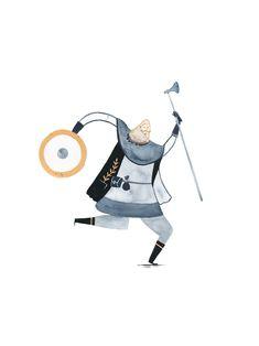 Dancing Viking Art Print by Pádhraic Mulholland. Vikings, Viking Men, Watercolour, Illustrator, Calendar, Snoopy, Ink, Dance, Art Prints