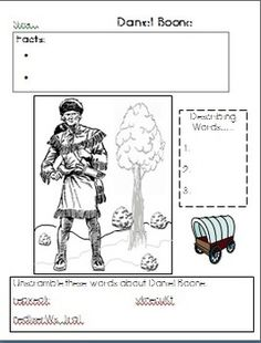1000 images about teaching loves reading comprehension for Daniel boone coloring pages