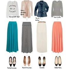 Maxi skirts outfits