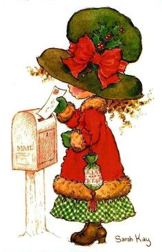 Sarah Kay--love getting Christmas cards and letters! Sarah Key, Holly Hobbie, Vintage Christmas Cards, Vintage Cards, Mary May, Christmas Time, Christmas Crafts, Merry Christmas, Sweet Memories