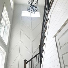 The Connector House I'm a sucker for a unique accent wall. posted this one months ago, but it's still one of my favorites. Home Renovation, Home Remodeling, Stair Walls, Stair Wall Decor, Stairs, Wall Design, House Design, Wall Molding, Moulding