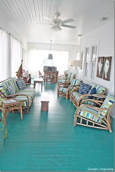 Feature Friday: Ebbtide on Tybee Island ebbtide porch - vintage bamboo furniture Bamboo Furniture, Porch Furniture, Cheap Furniture, Painted Furniture, Outdoor Furniture Sets, Cane Furniture, Luxury Furniture, Street Furniture, Furniture Online